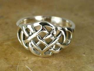 AWESOME LARGE STERLING SILVER CELTIC KNOT RING size 9