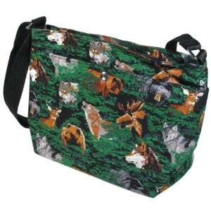 Wolf Bear Deer Outdoors Theme Purse by Broad Bay:  Sports