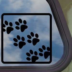 BEAR DOG PAW FOOT PRINTS ANIMAL Black Decal Car Sticker