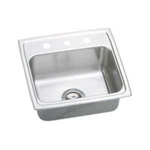 Top Mount Single Bowl Stainless Steel Sink With 2