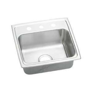 Lustertone 4 1/2 Top Mount Single Bowl Stainless Steel Sink With No