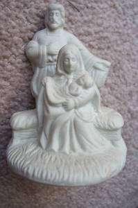 Ceramic Mary, Joseph and Baby Jesus Figurine
