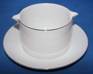 Vtg Thomas Germany Porcelain Gravy Boat & Underplate