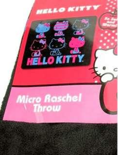 HELLO KITTY~ TOKYO BLACK SOFT FLEECE THROW BLANKET