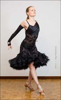 Latin ballroom competition dance dress, Fatal beauty, VIDEO