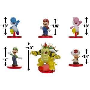 Mario, Luigi, Yoshi (Blue & Pink), Bowser, Toad Super