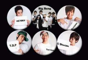 Big Bang Bigbang Korean Boy Band Music #1 Buttons Pins