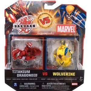 Titanium Dragonoid vs Yellow Wolverine Bakugan vs Marvel