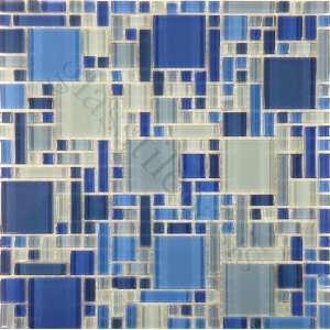 Navy Blue Blend Unique Shapes Blue Crystile Blends Glossy