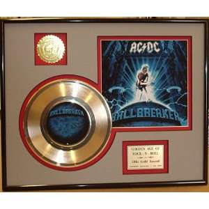 AC/DC Framed 24kt Gold Record Display   Great Framed Artwork   See Our
