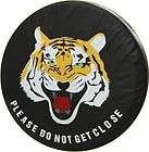 vehicle Spare wheel tyre tire cover white yellow tiger logo SUV 4WD