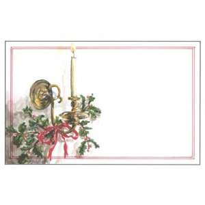 Christmas Sconce, Custom Personalized Christmas Invitation