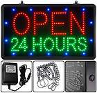 Open Telephone Number Led Lighted Window Sign 22 x13 Animated Motion