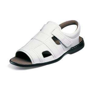Stacy Adams Belmont Mens Leather Casual Sandals White 24744 All Sizes