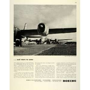 1945 Ad Boeing Co War Bonds WWII Military Aircraft B 29