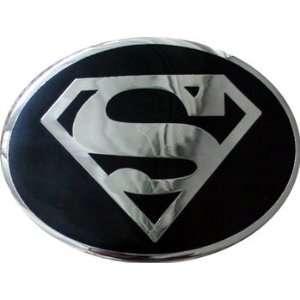 Original SUPERMAN LOGO Chrome Black Belt Buckle Licensed