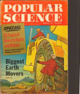 Popular Science Magazine March 1962 Big Earth Movers