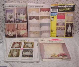 WINDOW TREATMENT PATTERNS CURTAINS, SEWING PATTERNS FOR DUMMIES