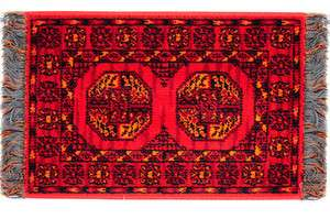 doll house mini CARPET RUG AFGHAN RED FLOORING LOVELIA COLLECTION