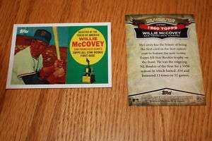2010 Topps CYMTO CMT 67 Willie McCovey San Fran Giants