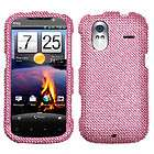 PINK RHINESTONE BLING DIAMOND CRYSTAL COVER CASE FOR HTC AMAZE 4G