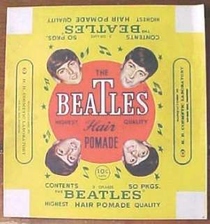 Beatles Vintage Hair Pomade Unused Box Wrapper
