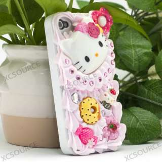Bling Cute Pink Cake Design Cover Case for iPhone4 PC37