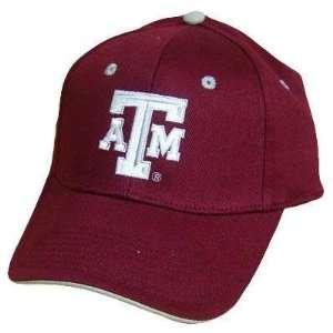NCAA TEXAS A&M AM AGGIES MAROON SILVER VELCRO HAT CAP