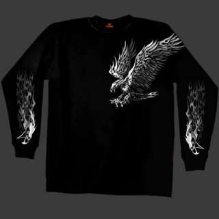 New BIKER SILVER EAGLE LONG SLEEVE T SHIRT ( L   3XL