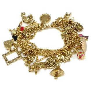 Disney Couture Tom Binns Alice in Wonderland Charm Bracelet