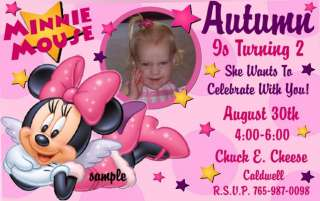 MINNIE & MICKEY MOUSE CLUBHOUSE Birthday Invitations