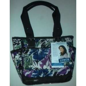 Carrier and Accessory Pouch   Purple, Green, Blue, Brown Flower Design