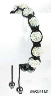 Shamballa Bracelet Disco Ball Adjustable Bracelet 14 Colors+ Gift Box