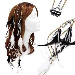 Hair Extension Mini Hair Clip Comb Leather Cord Black White