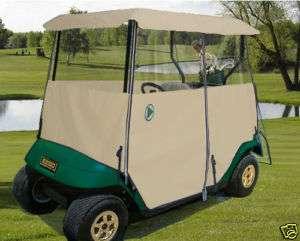 Drivable 2 Person Golf Car Cart Cover Enclosure Black