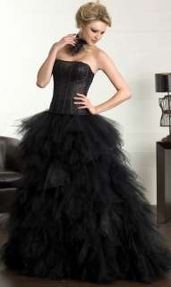 Black Wedding Bridal Gown Quinceanera Dresses Ball Gown Prom Dress