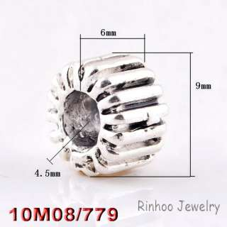 50X Tibetan silver Beads fit bracelet 9*6mm 28909_01