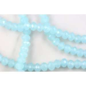 Chinese Crystal Glass Beads Faceted Rondelle 10mm Aqua