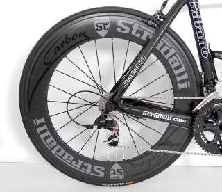 STRADALLI SRAM RED BLACK CARBON ROAD BIKE BICYCLE 52 cm