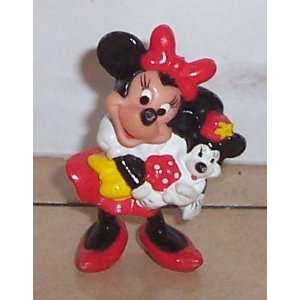 Disney MINNIE MOUSE pvc figure #3 with Baby by applause