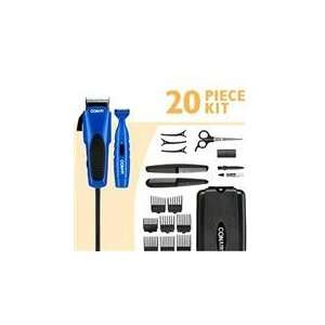 20 piece Combo Haircut Kit Benz Blue Clipper with 5 detent Taper