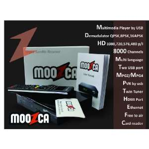 M O O Z C A Bravissimo Twin HD black MOOZCA azbox