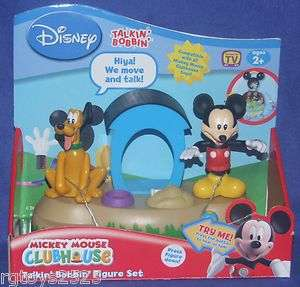 Disney Mickey Mouse Clubhouse Talkin Bobbin Figure Set Pluto New w