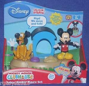 Disney Mickey Mouse Clubhouse Talkin Bobbin Figure Set Pluto New w