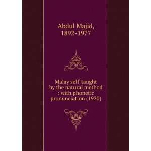Malay Self Taught (9781275094222): Abdul Majid Khan: Books