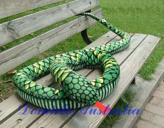 8M GIANT HUGE LIFELIKE STUFFED ANIMAL SNAKE 9.2 FEET