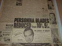 1951 Chicago Newspaper Ad  Bob Hope * Abbott & Costello