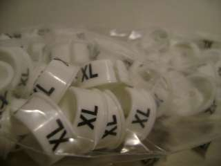 HANGER SIZE MARKERS (EXTRA LARGE SIZE) (XL) 500/CASE