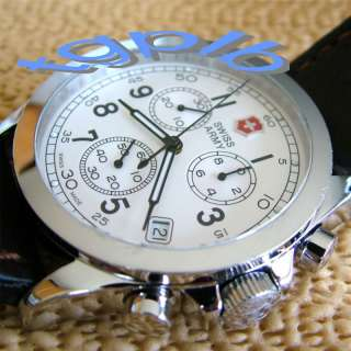 VicTorinoX SWISS ARMY~Mens INFANTRY CHRONO~Fully Polished~Cream Dial