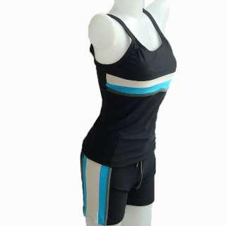 NWT Womens Speedo Lycra Swimsuit Tankini Shorts Black XL / 35
